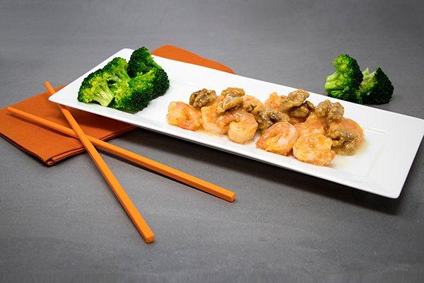 Honey Seared Walnut Shrimp