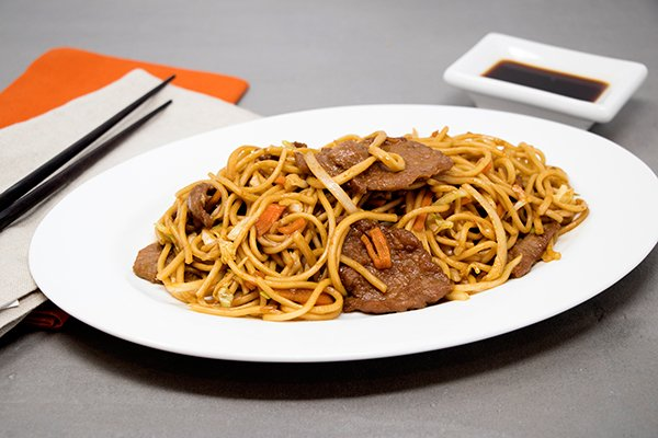 Beef Low Mein Noodles