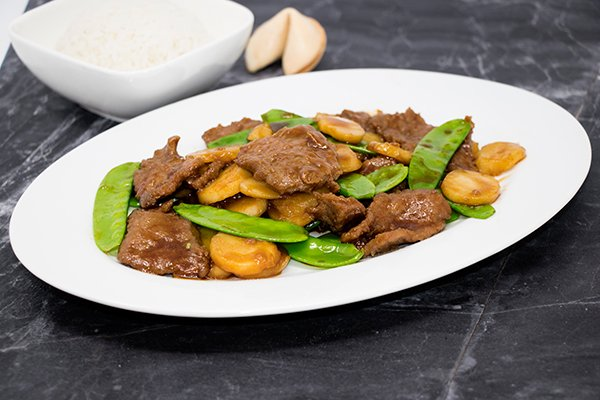 Beef with China Peas