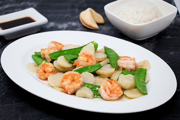 Shrimp with China Peas